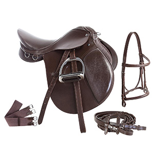 Ace Rugs All Purpose English Leather Horse Saddle