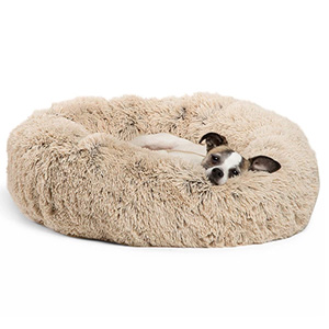 Best Friends by Sheri Calming Shag Vegan Fur Donut