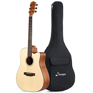 Donner Full Size Cutaway Beginner Acoustic Guitar