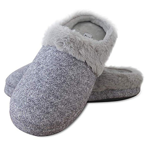 Elabooz Women's Comfort Knitted Cotton Slippers