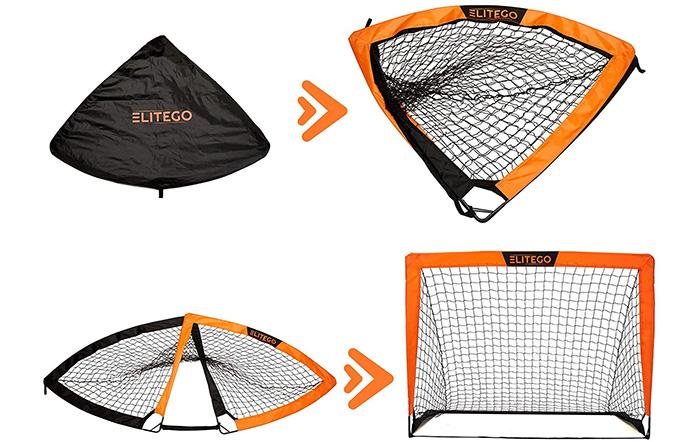 EliteGo Portable Soccer Goal Instant Pop Up Net
