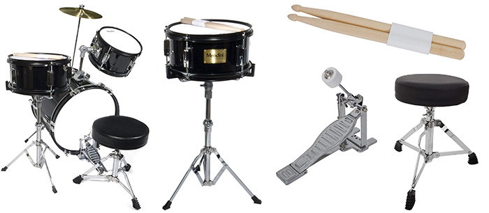 Mendini by Cecilio 3-Piece Junior Drum Set