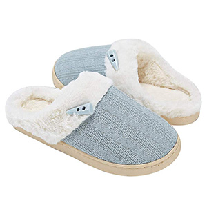 NineCiFun Women's Slip-On Fuzzy Outdoor Slippers