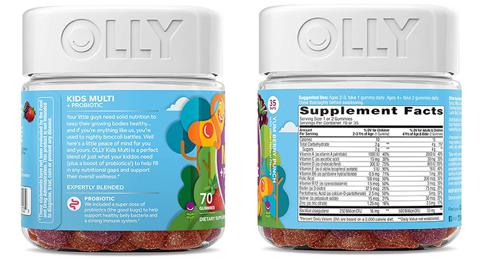 Olly Kids Multi + Probiotic Gummy Multivitamins