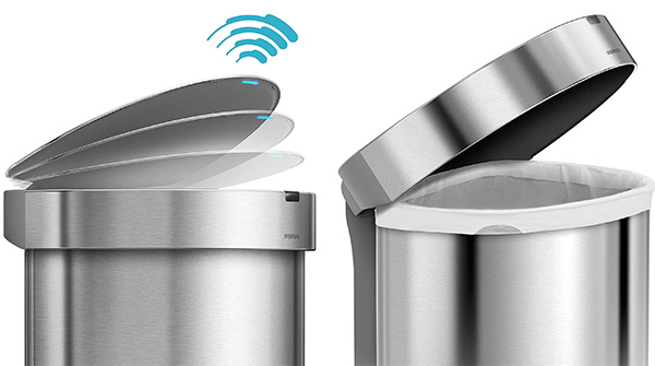 Simple Human Semi-Round Stainless Steel with Sensor