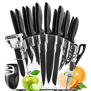 Stainless Steel Knife Set with Block from Home Hero